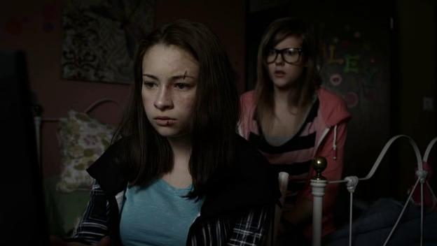Jodelle Ferland and Chanelle Peloso in Girl Fight (2011)