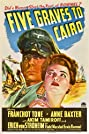 Five Graves to Cairo (1943) Poster