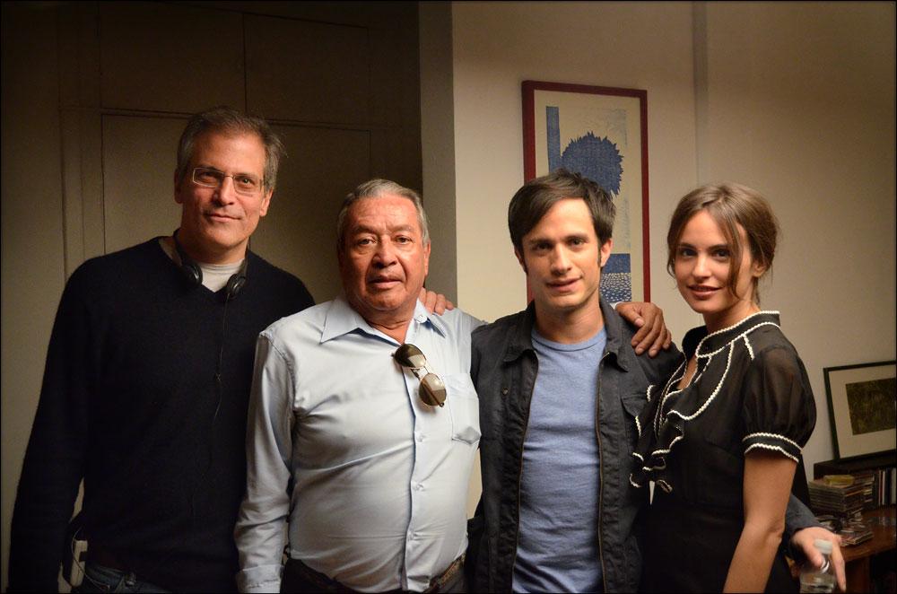 José Agustín, Gael García Bernal, Roberto Sneider, and Verónica Echegui in Me estás matando Susana (2016)