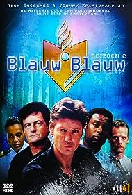 Rick Engelkes, John Kraaijkamp Jr., Devika Strooker, Pim Veth, and John Williams in Blauw blauw (1999)