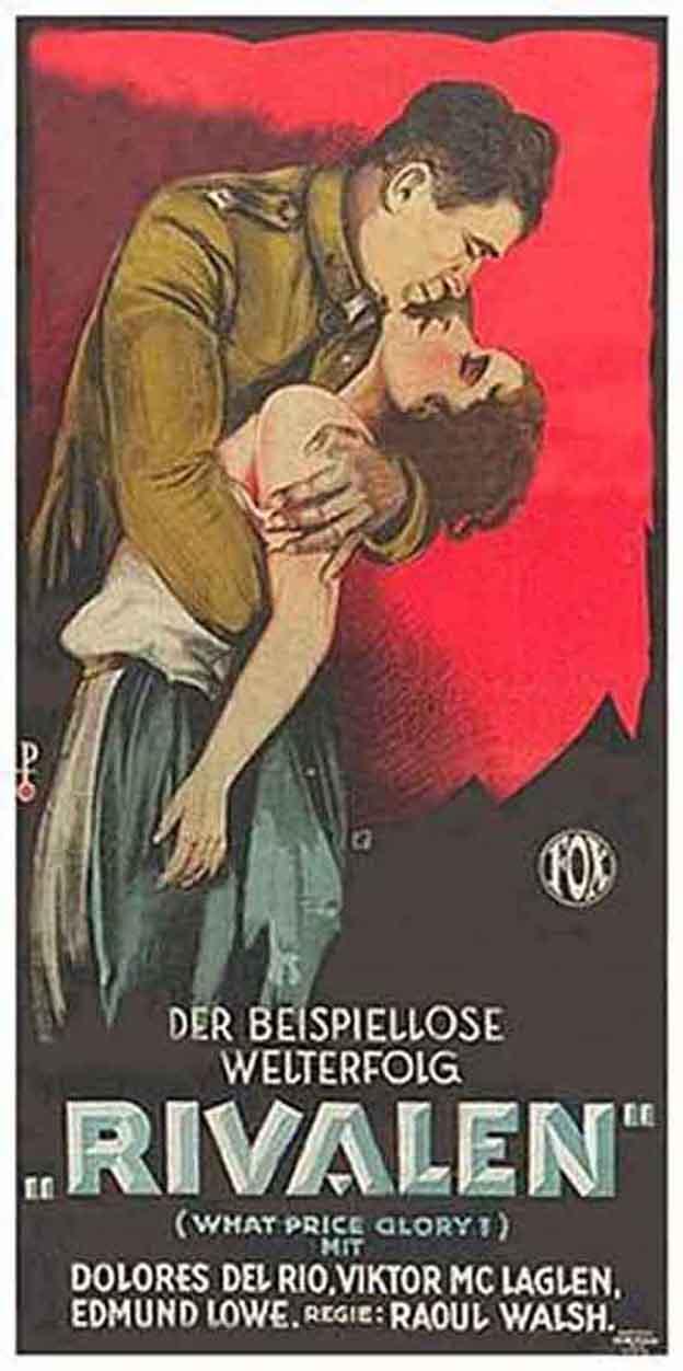 Dolores del Rio and Victor McLaglen in What Price Glory (1926)