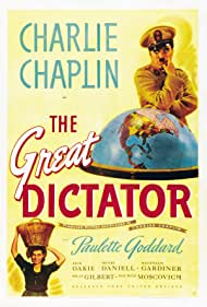 Charles Chaplin and Paulette Goddard in The Great Dictator (1940)