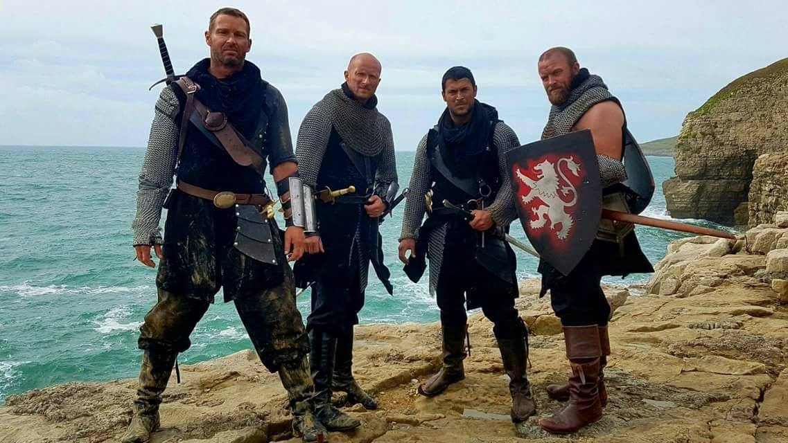 Silvio Simac, Ross O'Hennessy, Adrian Bouchet, and Ben Loyd-Holmes in Knights of the Damned (2017)