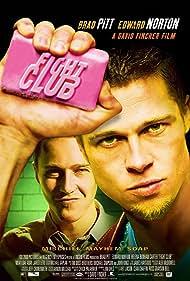 Brad Pitt, Edward Norton, and Chuck Palahniuk in Fight Club (1999)