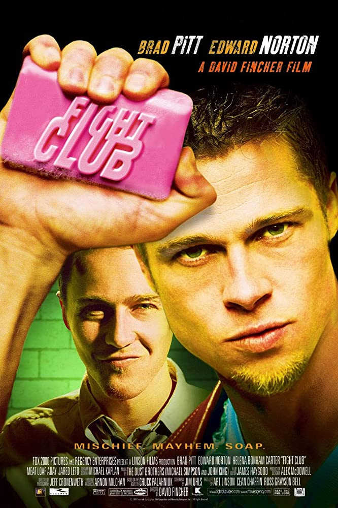Fight Club 1999 Hindi ORG Dual Audio 490MB BluRay ESubs Download