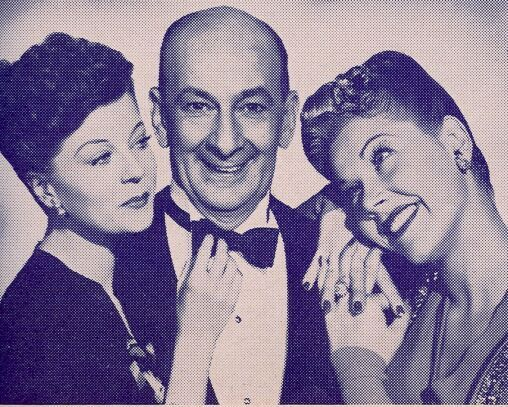 Leon Errol, Harriet Nelson, and Grace McDonald in Gals, Incorporated (1943)