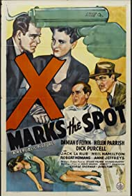 Neil Hamilton, Jack La Rue, Esther Muir, and Damian O'Flynn in X Marks the Spot (1942)