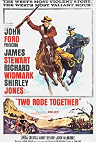 James Stewart and Richard Widmark in Two Rode Together (1961)
