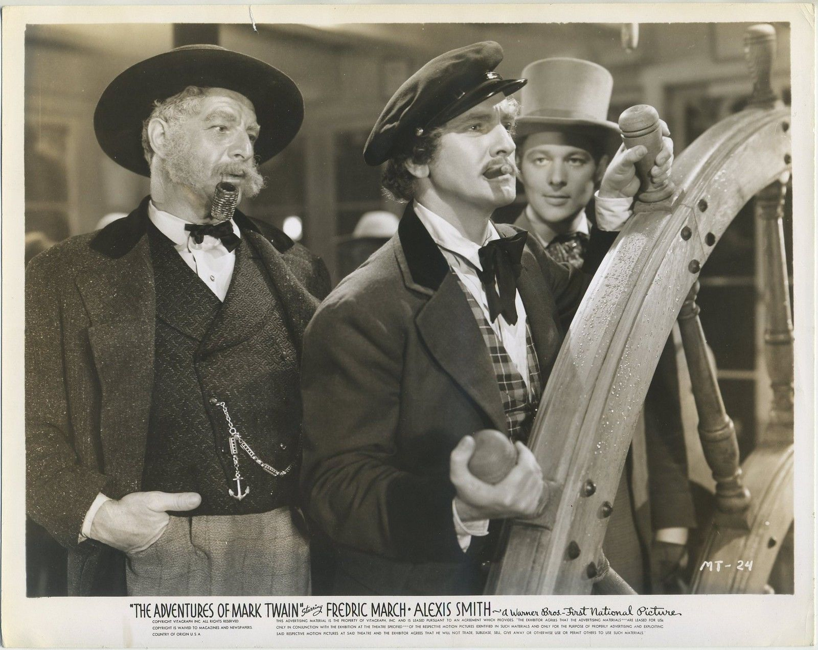 Robert Barrat, William Henry, and Fredric March in The Adventures of Mark Twain (1944)