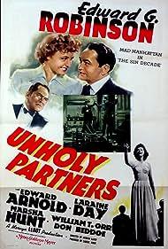 Edward G. Robinson, Edward Arnold, Laraine Day, and Marsha Hunt in Unholy Partners (1941)
