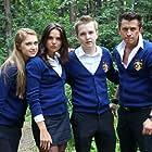 Igor Yurtaev, Pavel Priluchnyy, Tatyana Kosmacheva, and Anna Andrusenko in Zakrytaya shkola (2011)
