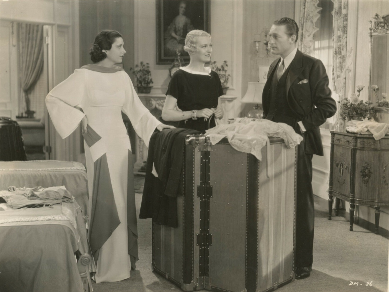 Kay Francis, Verree Teasdale, and Warren William in Dr. Monica (1934)