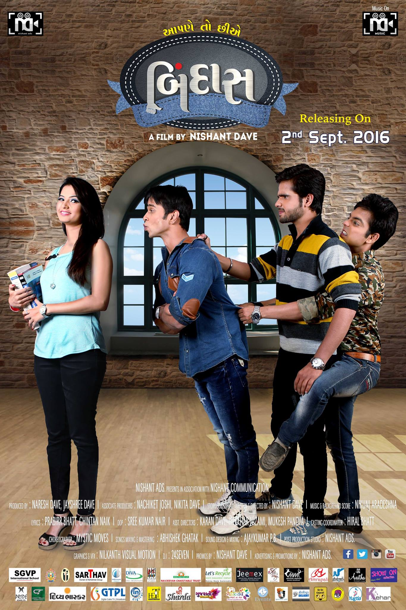 Aapne Toh Chhie Bindaas 2016 Gujarati 1080p HDRip ESubs 2565MB Download