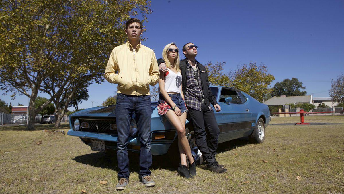 Emory Cohen, Bel Powley, and Tye Sheridan in Detour (2016)