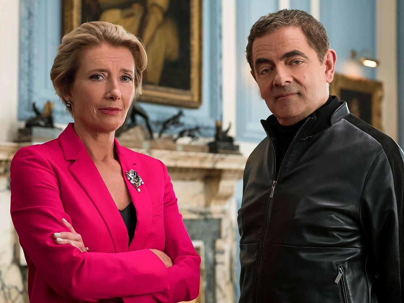 Rowan Atkinson and Emma Thompson in Johnny English Strikes Again (2018)
