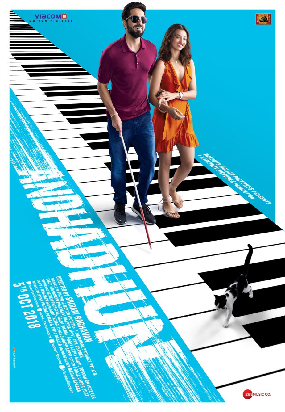 Andhadhun (2018) Hindi 720p HDRip 950MB ESubs Full Movie