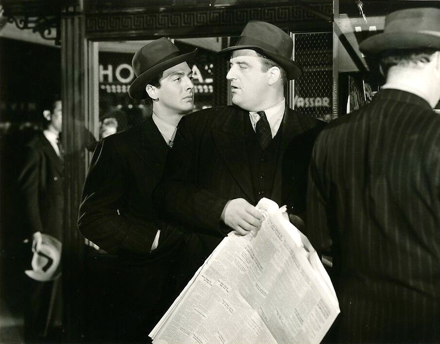 Victor Mature and Laird Cregar in I Wake Up Screaming (1941)