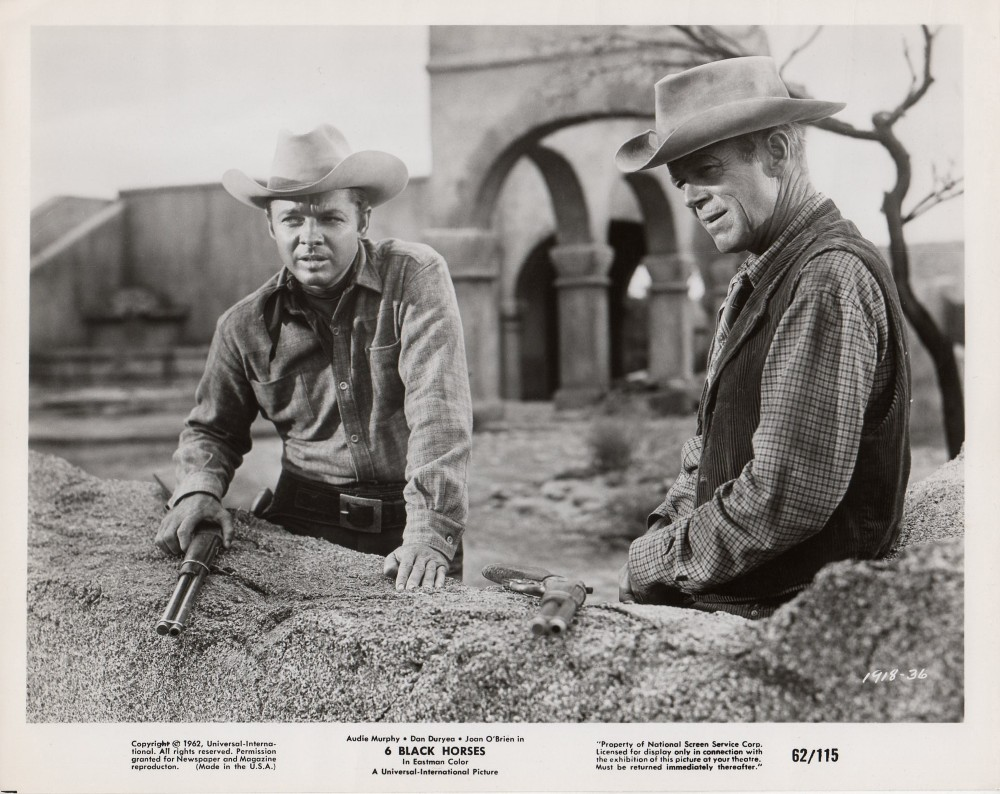 Audie Murphy and Dan Duryea in Six Black Horses (1962)