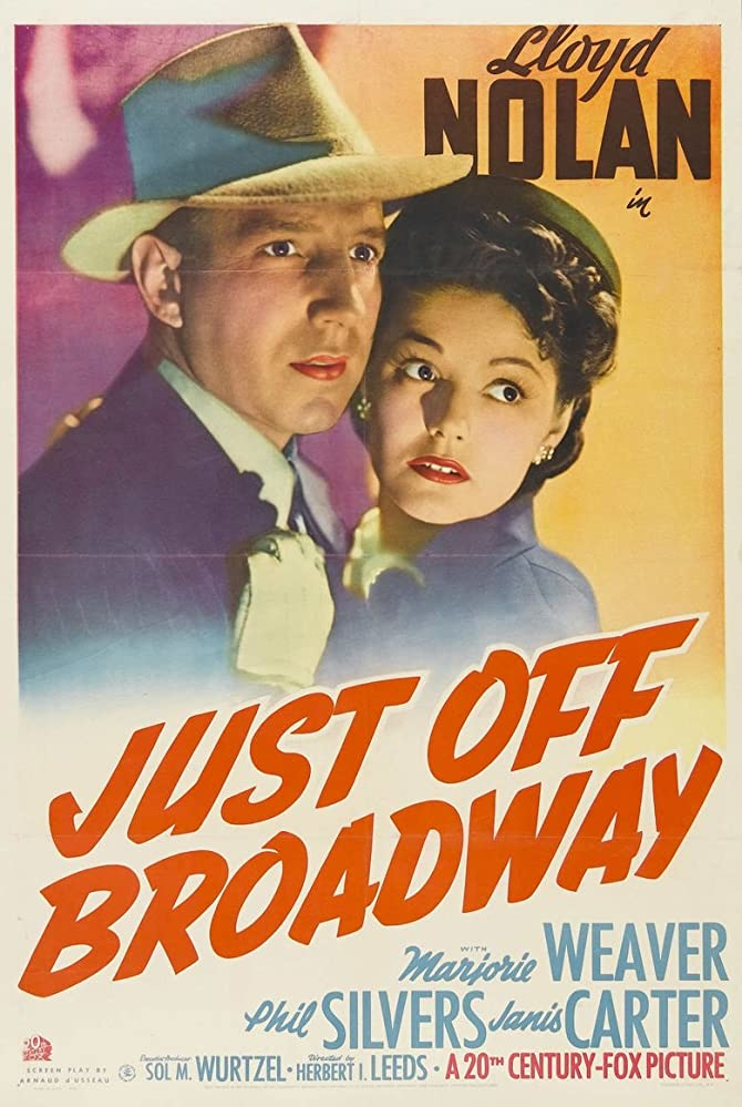 Lloyd Nolan and Marjorie Weaver in Just Off Broadway (1942)