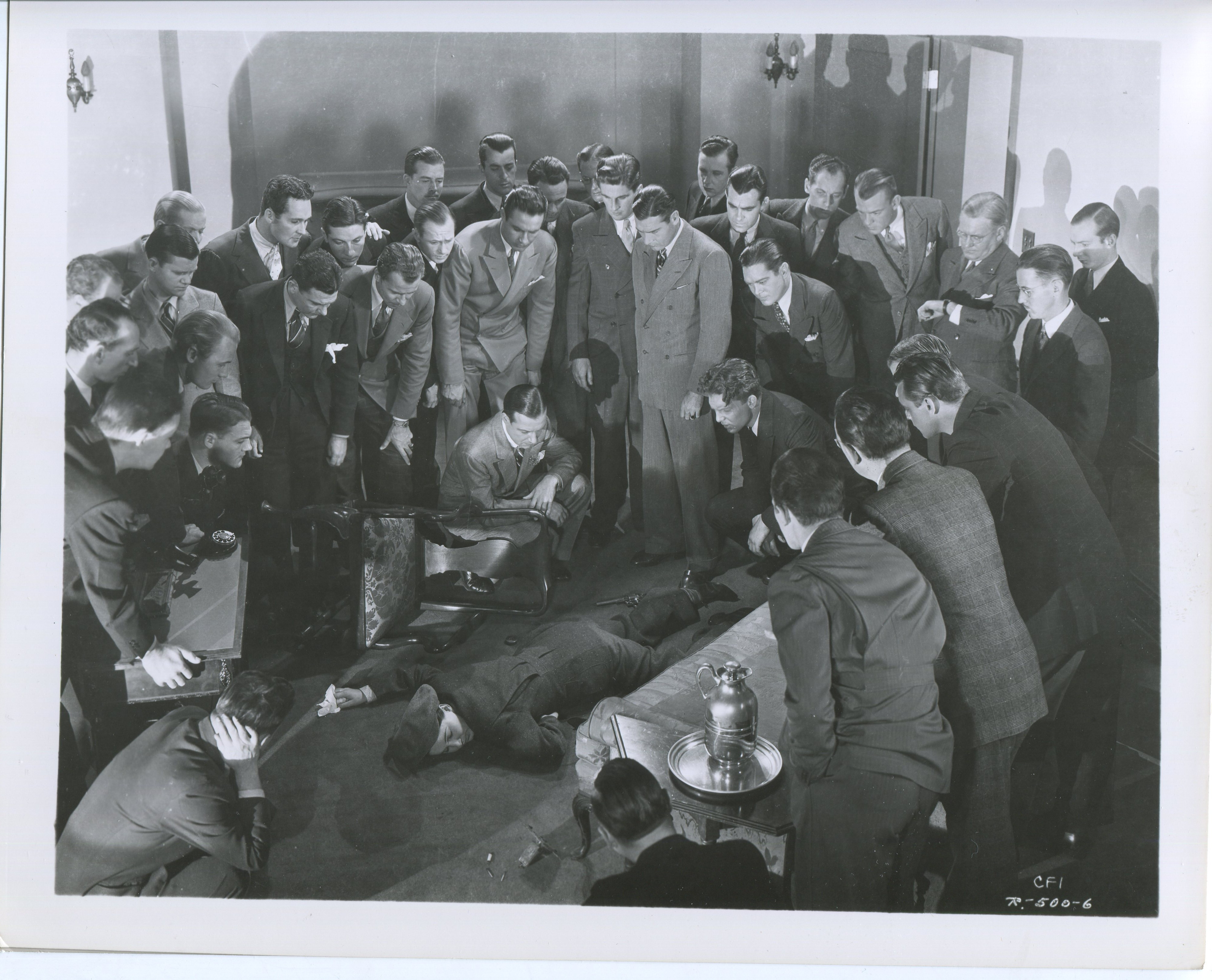 Richard Arlen, Bruce Cabot, and Harvey Stephens in Let 'em Have It (1935)