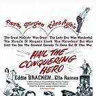 Eddie Bracken, William Demarest, Ella Raines, and Raymond Walburn in Hail the Conquering Hero (1944)