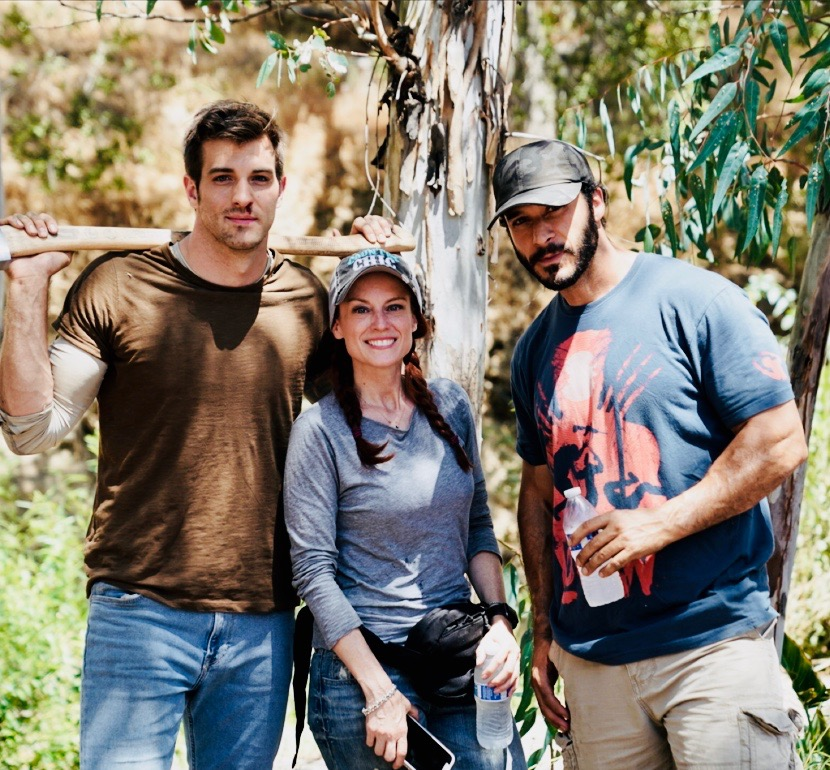 Stacia Crawford, Rocky Abou-Sakher, and Jake Allyn in Hidden in Plain Sight (2019)