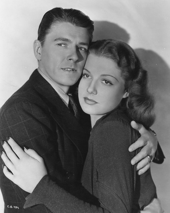 Ronald Reagan and Ann Sheridan in Angels Wash Their Faces (1939)
