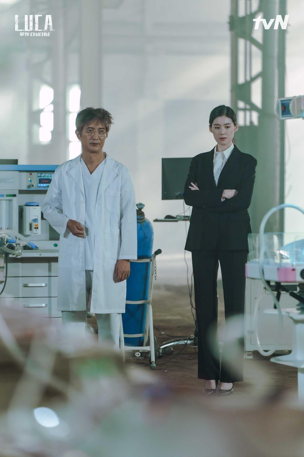 Nae-sang Ahn and Jung Eun-chae in L.U.C.A.: The Beginning (2021)