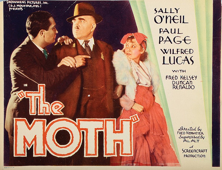 Fred Kelsey, Sally O'Neil, and Paul Page in The Moth (1934)