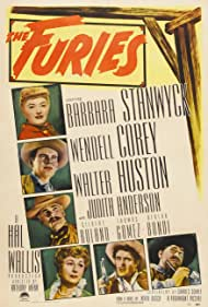Judith Anderson, Barbara Stanwyck, Wendell Corey, Thomas Gomez, Walter Huston, and Gilbert Roland in The Furies (1950)