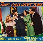 Joan Blondell, Robert Benchley, Janet Blair, and John Howard in Three Girls About Town (1941)