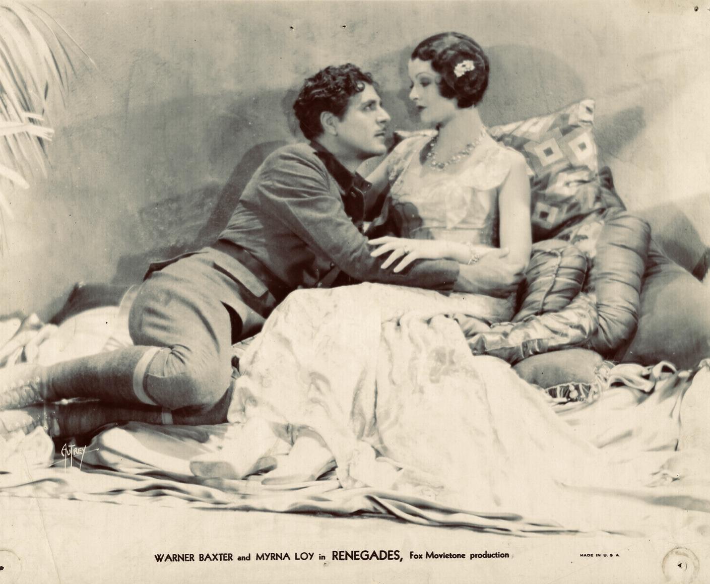 Myrna Loy and Warner Baxter in Renegades (1930)