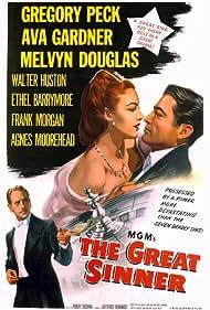 Gregory Peck, Ava Gardner, Melvyn Douglas, Walter Huston, and Robert Siodmak in The Great Sinner (1949)