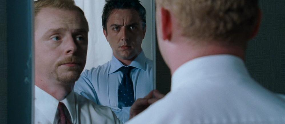 Simon Pegg and Peter Serafinowicz in Shaun of the Dead (2004)