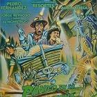 Pedro Fernández, Adalberto Martínez, and María Rebeca in Pánico en la montaña (1989)
