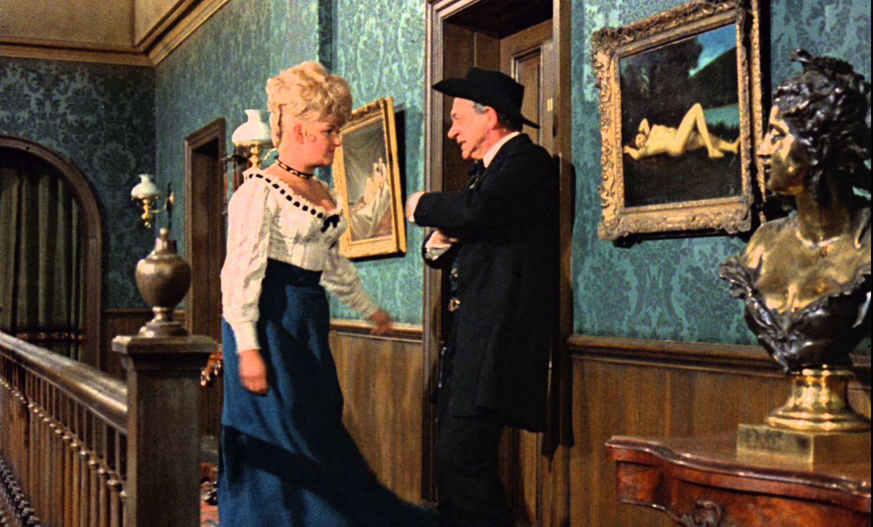 Sidney James and Joan Sims in Carry On Cowboy (1965)