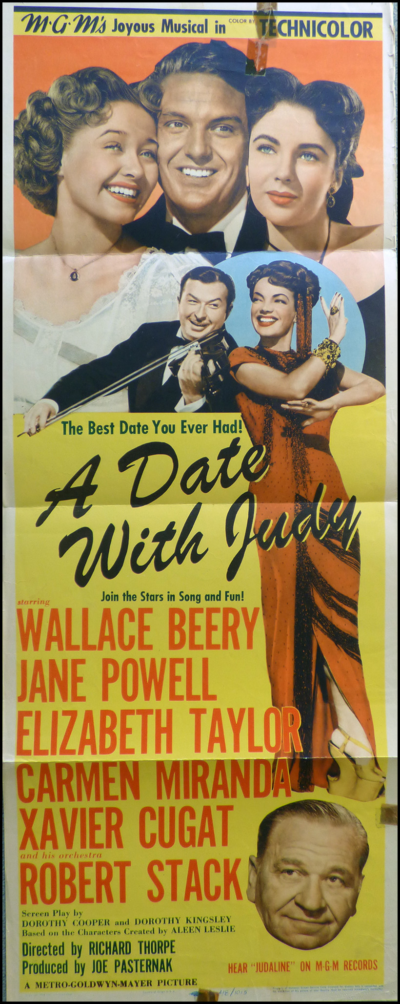 A date with Judy Jane Powell vintage movie poster #1