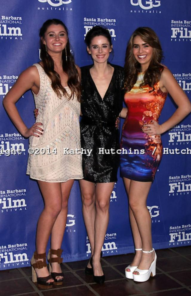 """Courtney Baxter, Pilar Lopez De Ayala and Heather Brave at the SBIFF Premier of """"Night Has Settled"""" February 2014"""