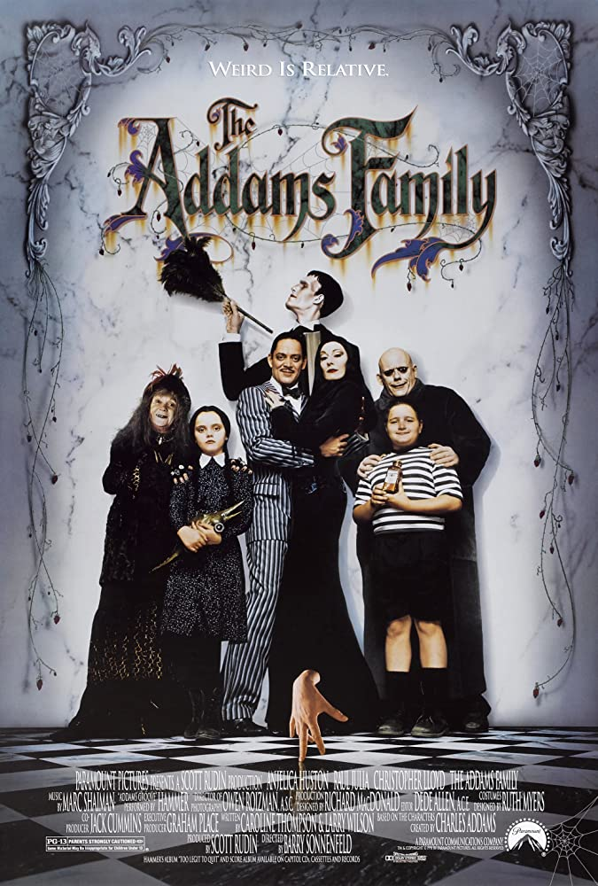 Weird Is Relative - Poster for Barry Sonnenfeld's The Addams Family (1991)