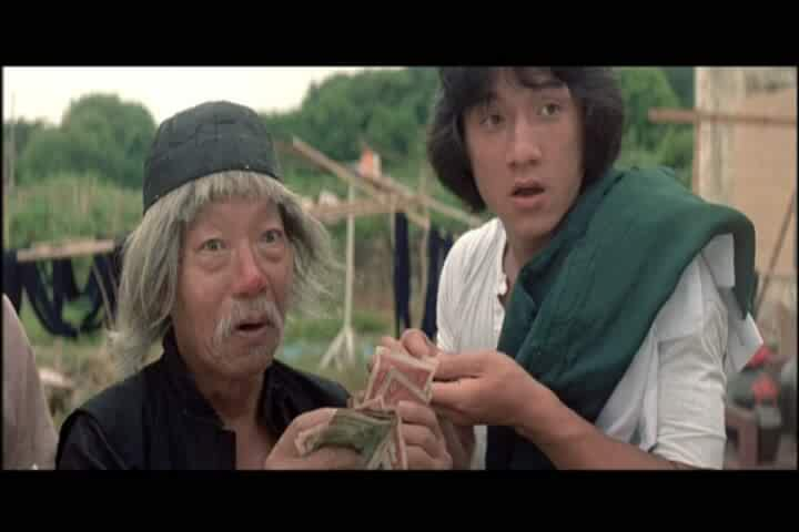 Jackie Chan and Siu Tin Yuen in Zui quan (1978)