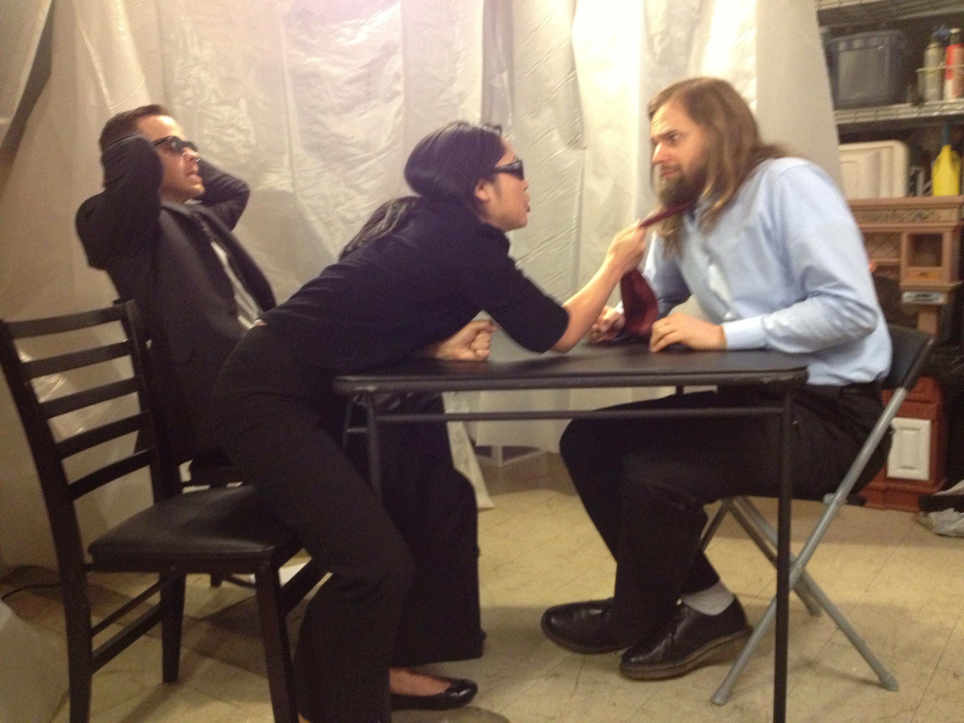 Clay Steakley, Cara Mitsuko, and Adam Hahn in WRNG in Studio City (2013)