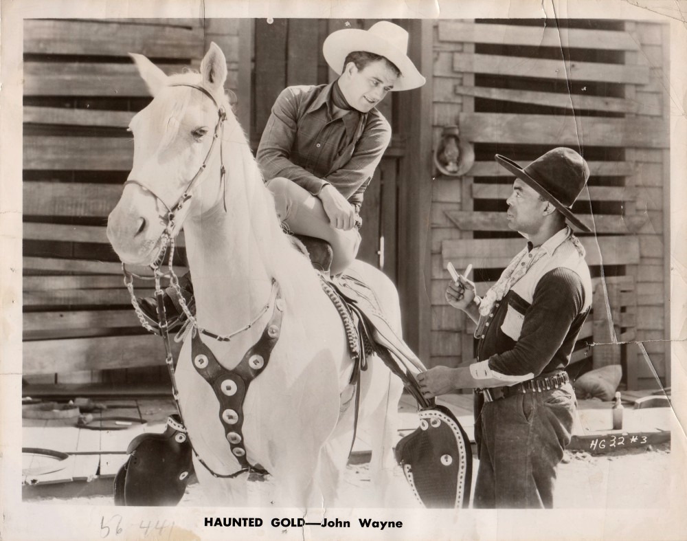 John Wayne, Blue Washington, and Duke in Haunted Gold (1932)