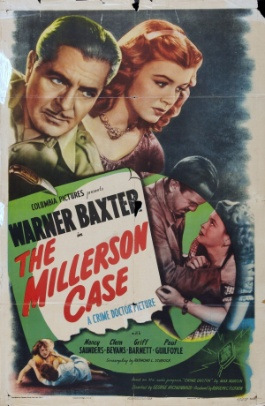Warner Baxter and Nancy Saunders in The Millerson Case (1947)