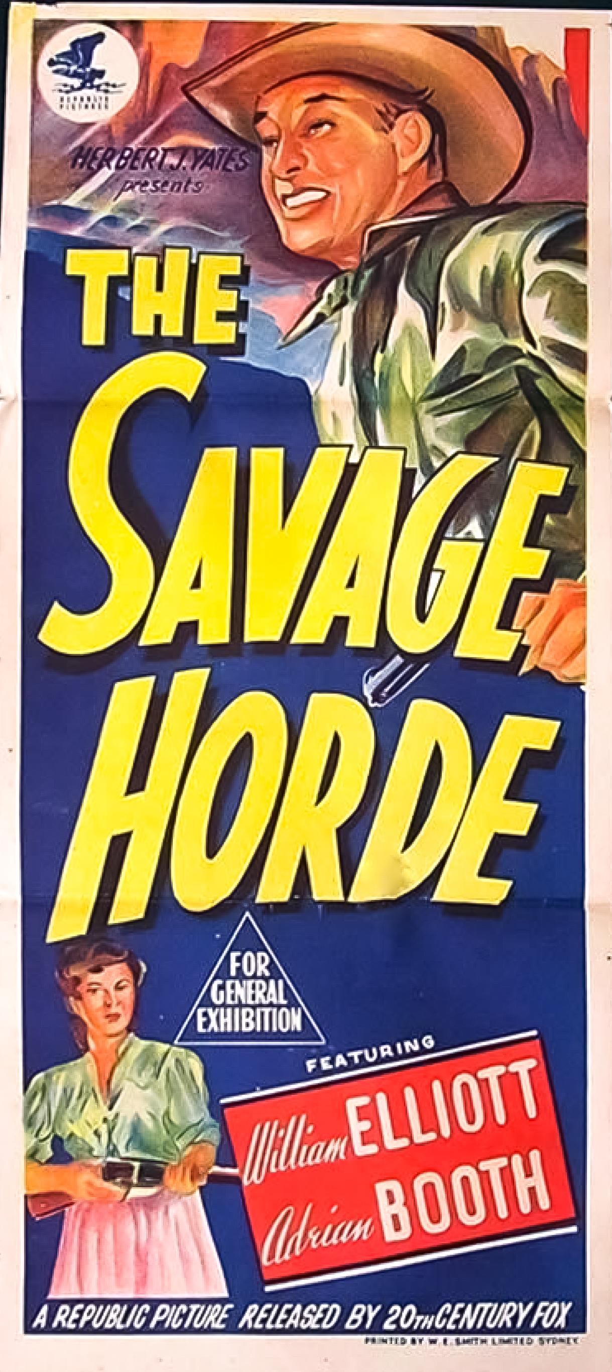 Bill Elliott and Lorna Gray in The Savage Horde (1950)