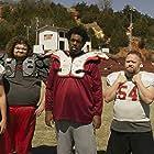 Travis Nicholson, Da'Vone McDonald, Geoff Barron, Chris Reed, and Tanner Anderson in The Turkey Bowl (2019)