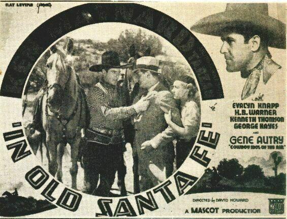 Evalyn Knapp, Ken Maynard, Kenneth Thomson, and Tarzan in In Old Santa Fe (1934)