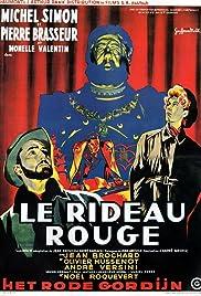 Crimson Curtain Poster
