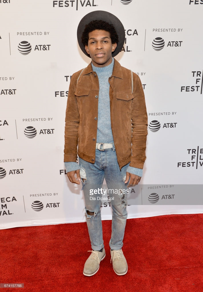 Camrus Johnson at an event for There's... Johnny! (2017)