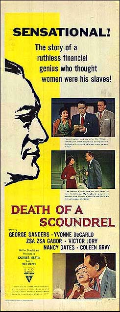 Yvonne De Carlo, Zsa Zsa Gabor, George Sanders, and Werner Klemperer in Death of a Scoundrel (1956)