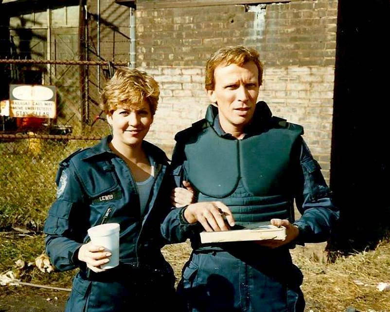 Nancy Allen and Peter Weller in RoboCop (1987)